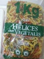 Цветные макароны-спиральки с овощами«Hélices Pasta Vegetal » 1кг