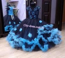 Прокатное нарядное детское платье П083