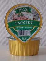 Вкусный куриный паштет с грибами Familijne przysmaki 130 г