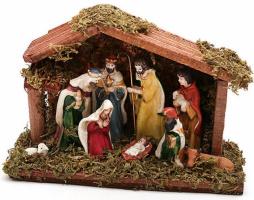 Декор «Рождественский Вертеп» 9 фигур 18см
