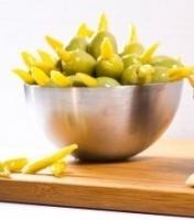 Зеленые оливки фаршированные зеленым перцем