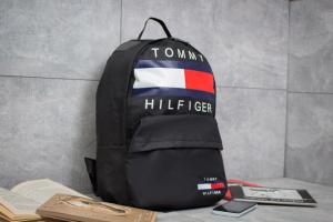 Рюкзак унисекс в стиле Tommy Hilfiger, черные (90153),  [ 1  ]