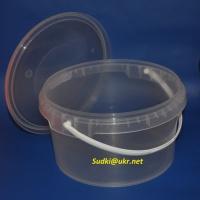 Пластиковая тара для пищевых продуктов, ведро 3,4л