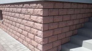 Фасадная бетонная плитка, облицовочная, цокольная.