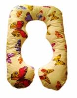 Подушка для беременных фигурная «Бабочки», наволочка в комплекте