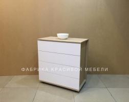 Комод Ровер, цвет Сонома, Белый