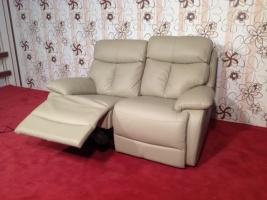 Кожаный двухместный диван ReLax премиум класса