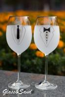 Свадебные бокалы для вина (Bohemia). Для одного и такого пола.