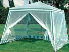 Садовая беседка 3×3 метра с москитной сеткой