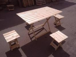 Раскладной стол и стулья для пикника СТОЛ + 4 СТУЛА