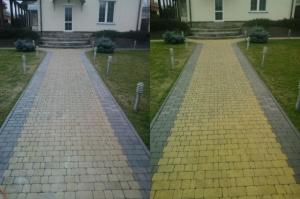 Чистка мойка тротуарной плитки ФЭМ и гранитной брусчатки Киев
