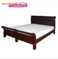 Деревянная двуспальная кровать Елисеевска мебель