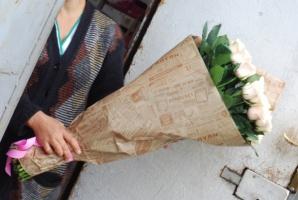 21 біла троянда Івано-Франківськ