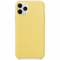Чехол Silicone Case without Logo (AA) для Apple iPhone 11 Pro Max (6.5«) Желтый / Yellow