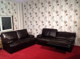 Комплект кожаных мягких диванов ReLax производства Германии