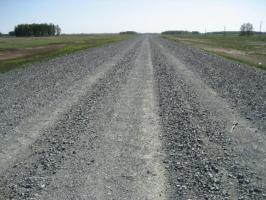 Временные дороги - Дороги с асфальтной крошки, щебня, отсева .... Установка дорожных бордюров