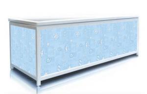 Экран под ванну Пан Билан - ЭЛИТ 150см. Голубые Ракушки