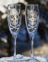 Свадебные бокалы для шампанского (Luminarc)
