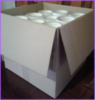 Скотч двухсторонний, бумажный, прозрачный 12мм х 10м х 225шт.