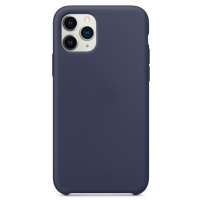 Чехол Silicone Case without Logo (AA) для Apple iPhone 11 Pro Max (6.5«) Синий / Midnight Blue