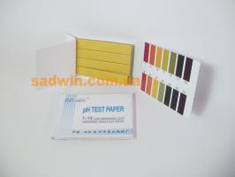 Лакмусовая бумага индикаторная, книжка. Измерение кислотности Ph 1-14.