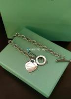 Браслет Тиффани сердце на цепи ( серебро)