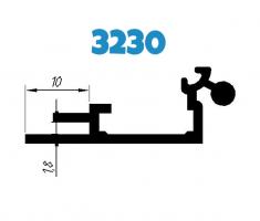 База к 32 клик системе алюминиевая , анод(3230)