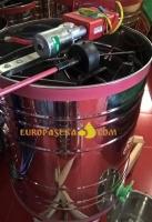 Медогонка «Японка» Euro4Е НТЦ с поворотом кассет 4-х рамочная нержавеющая с червячным эл.приводом в алюм. корпусе