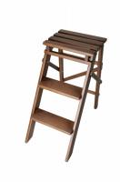 Стул стремянка деревянная на 2 ступени (62 см)