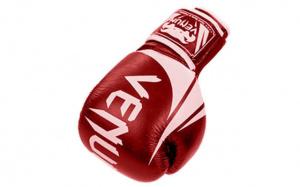 Перчатки боксерские кожаные VENUM Red 10,12 oz 10 OZ