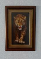 Эффектная вышивка-оберег «Леопард»