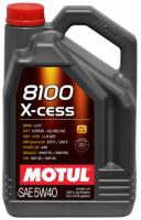 5W40 5L MOTUL 8100 X-cess 5W40 5L Масло синтетическое ДВС 5W-40 (368206/102870)