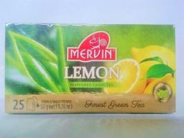Чай Mervin Зелёный Лимон пакетированный 25/2 грам