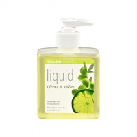 Sodasan 7736 Органическое мыло Citrus-Olive жидкое, бактерицидное с цитрусовым и оливковым маслами (с дозатором), 300 мл