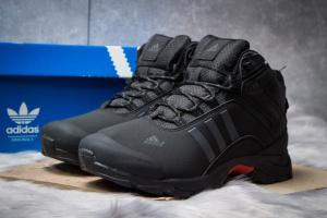 Зимние ботинки на меху в стиле Adidas Climaproof, черные (30505),  [  41 42 43 44 45  ]