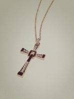Колье крест с цирконием позолота 18К арт: 156398