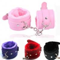 Наручники Секс игры кожа ,купить наручники розовый, черный, синий,красный для секса кожаные