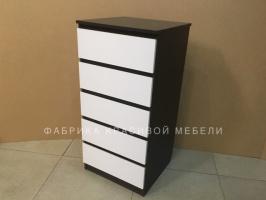 Комод Кубик, цвет: Корпус Магия, фасад Белый