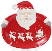 Набор 2 обеденные керамические тарелки «Санта» 24см