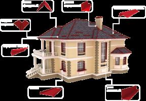 Аксессуары для крыши (торцевая, карнизная, конек, снегобарьер, уголок)