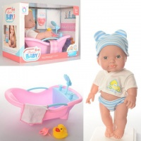 Кукла пупс с ванночкой: ванна + соска + уточка