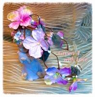 Віночок «Рожева гортензія»