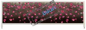 Экран под ванну Пан Билан - АРТ 150см. Розовые цветы