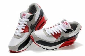 Nike Air Max 90 черно-бело-красний