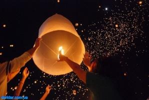 Небесные летающие китайские фонарики воздушные