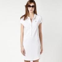Белое платье лакост