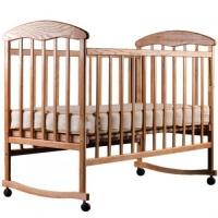 Детская кроватка Наталка, ясень светлый и ясень тонированный (тёмный)