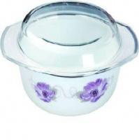 Кастрюля стеклокерамическая 1л  Purple Flower «Lorentso»