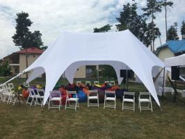 Шатер Звезда-2 10х14м Двухмачтовая палатка для отдыха, по Украине