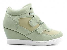 Модные кроссовки - сникерсы(ST14)!!! бежевые